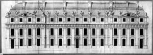 Chateau de Vincennes: Elevation of the Facade of a Corner Pavilion, 1658 by Louis Le Vau