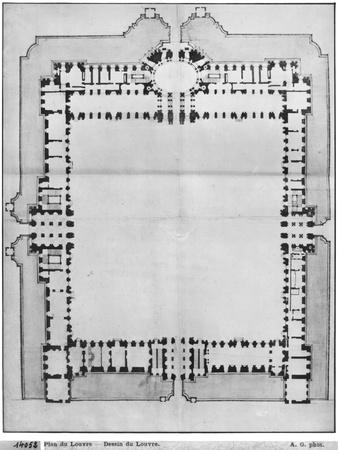 Design For the Eastern Buildings of the Louvre, from Recueil du Louvre