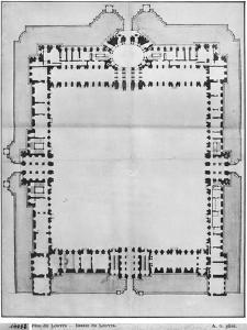 Design For the Eastern Buildings of the Louvre, from Recueil du Louvre by Louis Le Vau