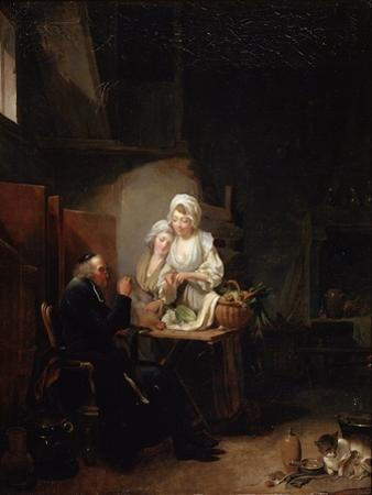 An Old Curate, Late 1780S by Louis Leopold Boilly