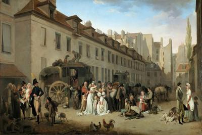 Arrival of the Stagecoach in the Courtyard of the Messageries