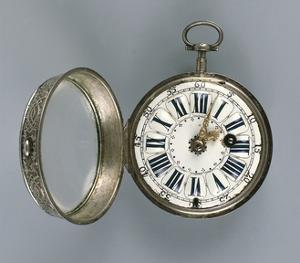 Pocket Watch , Silver, Gilt Brass and Enamel, France, 1720 by Louis Leopold Boilly