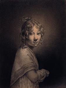 Portrait of a Girl, Half-Length by Louis Leopold Boilly