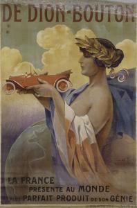 Affiche pour les automobiles De Dion-Bouton (imprimeur: les Editions nationales, Paris) by Louis Lessieux