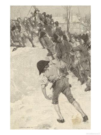 Napoleon Circa 1780 Attacking Snow Forts at the Military School at Brienne