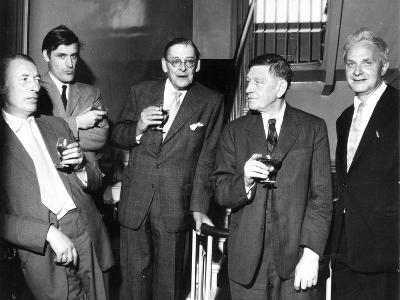 Louis Mac Neice, Ted Hughes, T.S. Eliot, W.H. Auden, Stephen Spender, 1960--Photographic Print
