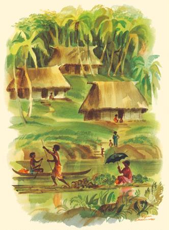 Fiji - S.S. Matsonia Menu Cover - Matson Line (Matson Navigation Company) by Louis Macouillard