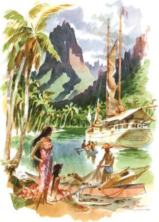 Tahiti by Louis Macouillard