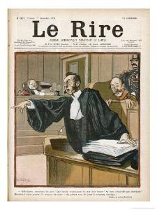 An Advocate in Full Swing in the Courtroom by Louis Malteste
