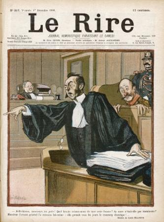 An Advocate in Full Swing in the Courtroom