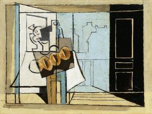 Monday, the Open Window; Lundi, La Fenetre Ouverte, 1929 by Louis Marcoussis