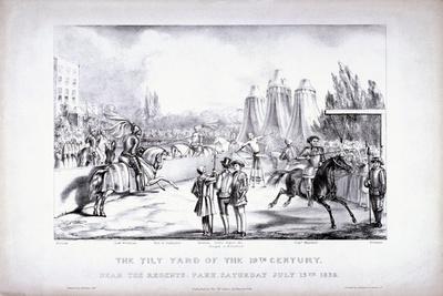Eglinton Tournament, the Tilt-Yard of the 19th Century, Near the Regent's Park, London, 1839