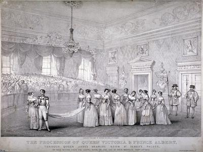 Wedding of Queen Victoria and Prince Albert, St James's Palace, Westminster, London, 1840