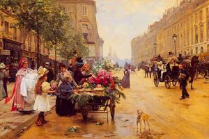 Rue Royale, Paris by Louis Marie de Shryver