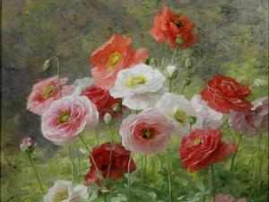 Cluster of Poppies, 1884 by Louis Marie Lemaire