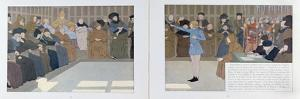 The Trial of Joan of Arc in Rouen Castle in 1431 from 'Jeanne D'Arc', C.1910 by Louis Maurice Boutet De Monvel