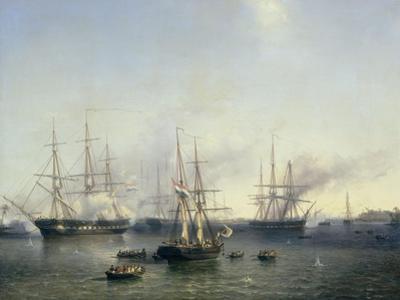 Conquest of Palembang, Sumatra in Indonesia, by Lieutenant-General Baron De Kock, June 24 by Louis Meijer