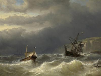 Storm in the Strait of Dover by Louis Meijer