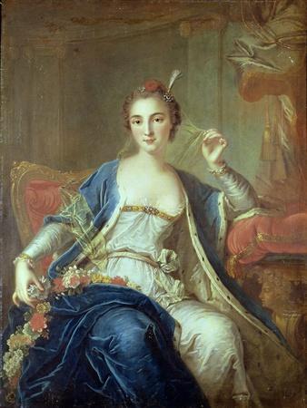 Portrait of Mademoiselle Marie Salle 1737