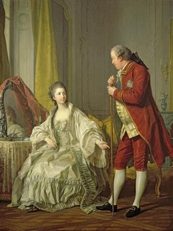 Portrait of the Marquis de Marigny and His Wife, Marie-Francoise Constance Julie Filleul, 1769