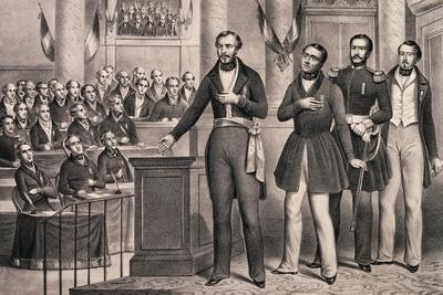 Louis-Napoleon Swears Allegiance to the Republic in December 1848--Giclee Print