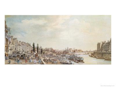 View of the Port Saint-Paul, Paris, 1782
