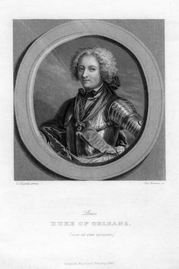 Louis of Bourbon, Duke of Orleans-J Brown-Giclee Print