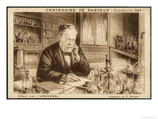 Louis Pasteur French Chemist and Microbiologist in His Laboratory-H. Wagner-Giclee Print