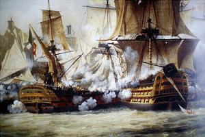 Battle of Trafalgar by Louis Philippe Crepin