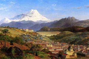 Rio Bamba, Ecuador, 1859 by Louis Remy Mignot
