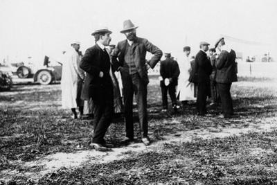 Louis Renault (To the Lef) and Edouard Michelin at the French Grand Prix, Dieppe, 1908
