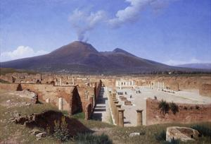 Vesuvius from Pompei by Louis Spangenberg