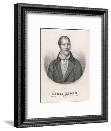 Louis Spohr, German Musician--Framed Giclee Print