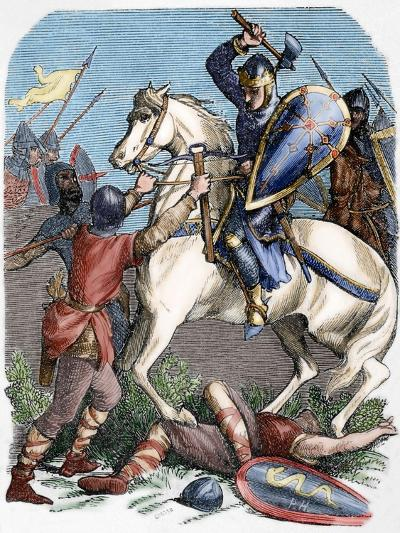 Louis VI (1081-1137) at the Battle of Brenneville, 1119--Giclee Print