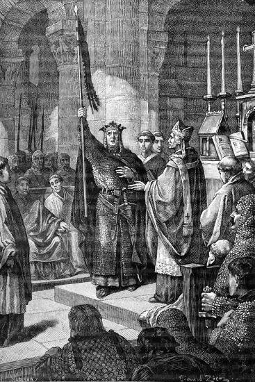 Louis VII, Saint Denis, 1898-Gustave Demoulin-Giclee Print