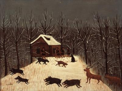 Hunting (Winter with Dogs) by Louis Vivin