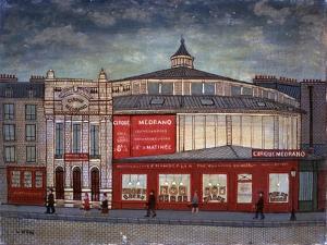 Medrano Circus in Montmartre, Paris by Louis Vivin
