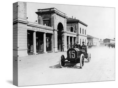 Louis Wagner Driving a Fiat, Coppa Fiorio Motor Race, Bologna, Italy, 1908