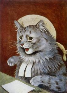 Cat Dressed as a Judge by Louis Wain
