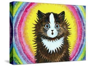 Cat in a Rainbow by Louis Wain