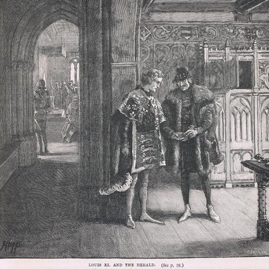 Louis XI and the Herald-Henry Marriott Paget-Giclee Print