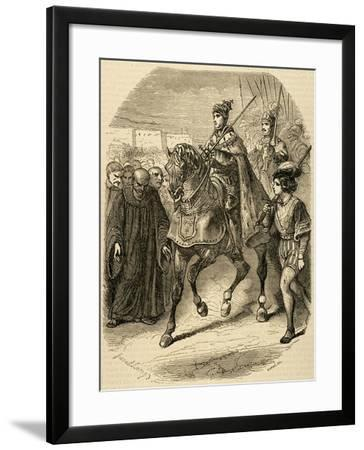 Louis XII (1462-1515) King of France Entering the City of Genoa., 1851--Framed Giclee Print
