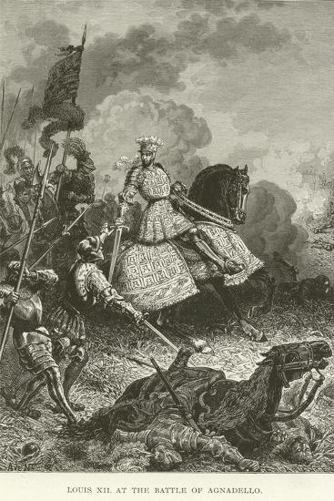 Louis XII at the Battle of Agnadello--Giclee Print