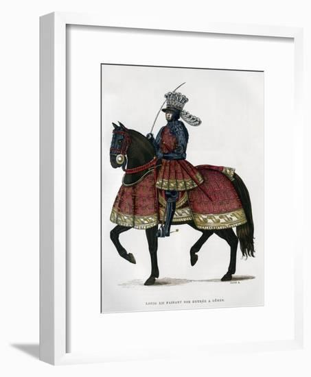 Louis XII, King of France, on Horseback, 1498-1515 (1882-188)- Gautier-Framed Giclee Print