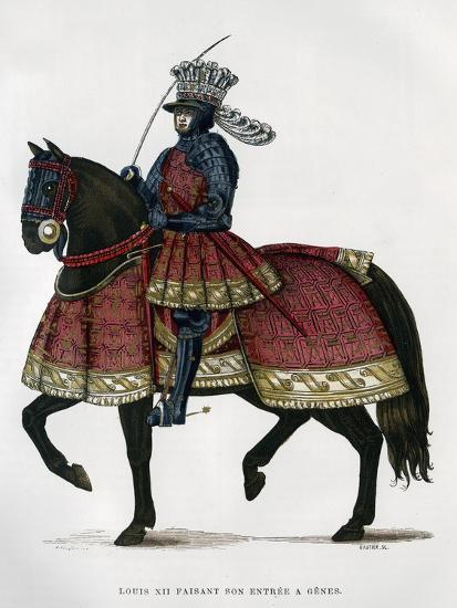 Louis XII, King of France, on Horseback, 1498-1515 (1882-188)- Gautier-Giclee Print