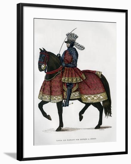 Louis XII, King of France, on Horseback, 1498-1515 (1882-188)-Gautier-Framed Giclee Print