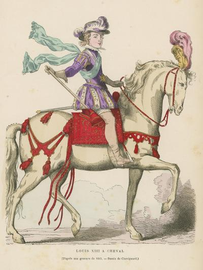 Louis XIII of France on Horseback--Giclee Print