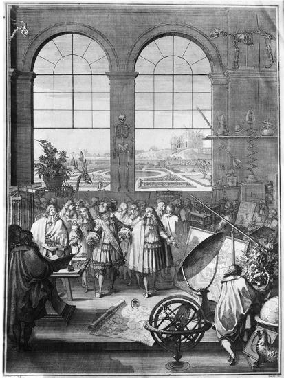 Louis XIV (1638-1715) and His Entourage Visiting the Garden of the King, after 1665-Jacques Sébastien Le Clerc-Giclee Print