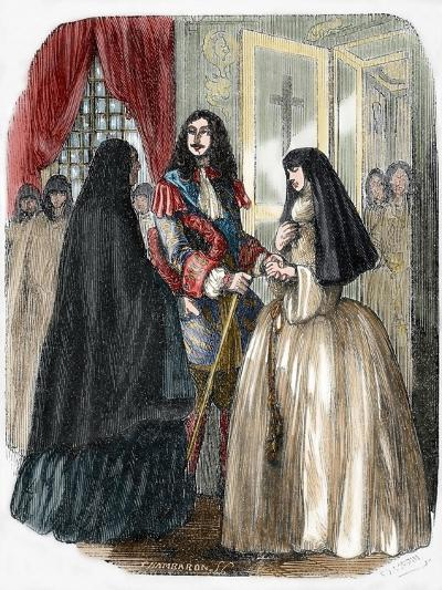 Louis XIV and His Mistress Louise De La Valliere (1644-1710)--Giclee Print