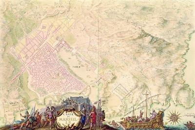 Louis XIV Atlas, Map and Plan of Marseille, 1683-88-Sebastien Le Prestre de Vauban-Giclee Print